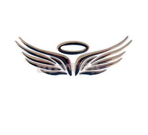 Brand New Silver 3D Angel Wings Car Auto Truck Logo Emblem ...
