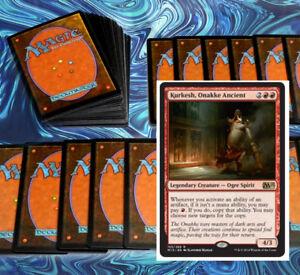 mtg-RED-KURKESH-COMMANDER-EDH-DECK-Magic-the-Gathering-100-cards-verix-dragons