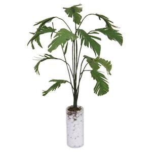 Dollhouse Miniature Green Banana Tree Plant with Vase Pot Accessory Garden Decor