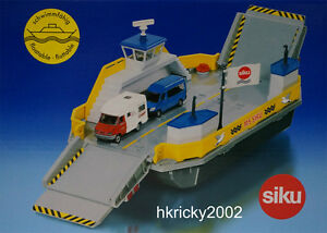 Siku Super 1750 1:50 Floatable Car Ferry with Camping Car & Multivan Model