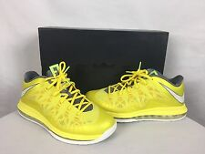 """NEW! Nike Air Max Lebron X(10) Low """"Sonic Yellow"""" Size 10.5 With Box 579765-700"""