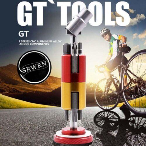 All In One Bike Multi-Tool Aluminum Bike Bicycle Invisible Repair Tool Set