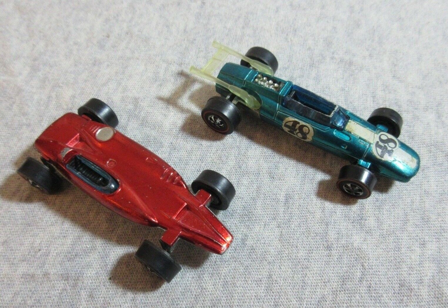 1 64 Diecast Hot Wheels 1969 Sheby Turbina Hong Kong + Indy Eagle rojoline Vintage