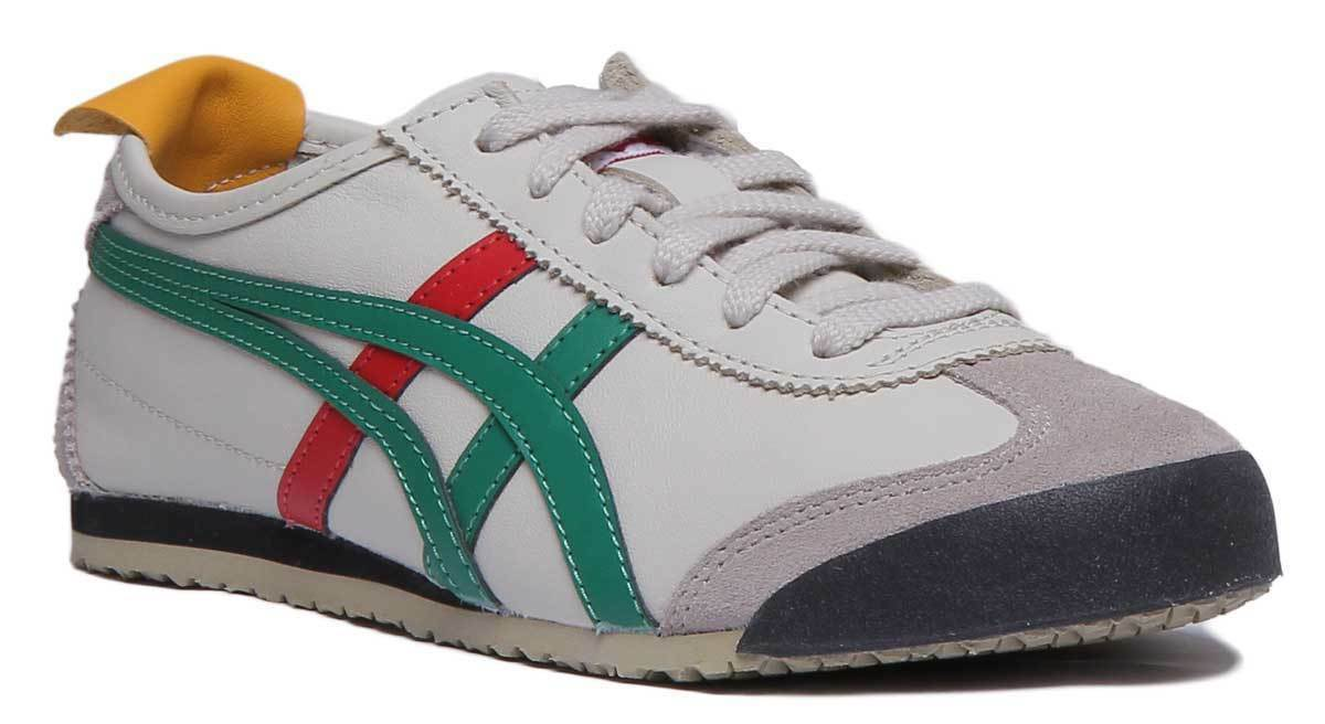 Onitsuka Tiger Mexico 66 Women Leather Birch Green Trainers UK Size 3 - 8