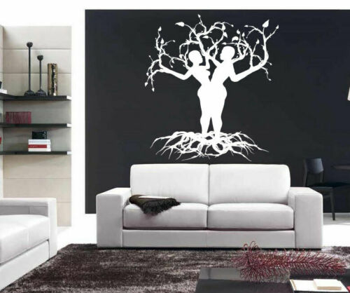 Wall Vinyl Sticker Decal Mural Room Design Tree Couple Branch Love Hugs bo2216