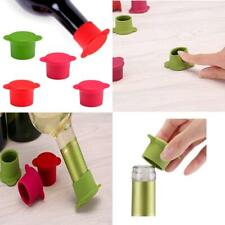 Vitrix Kitchenware Bottle Caps Reusable and Unbreakable Sealer Covers-Silicone Stoppers to Keep Wine or Beer Fresh for Days with Air Tight Seal-Set of 5