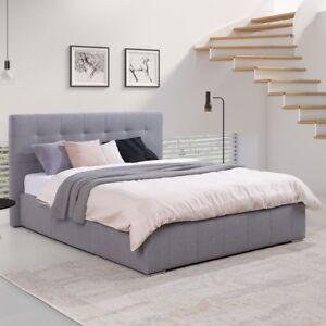 doppelbett rosklide ii mit bettkasten polsterbett ehebett modern stilvoll ebay. Black Bedroom Furniture Sets. Home Design Ideas