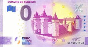 56 SARZEAU Château de Suscinio, 1218, 2021, Billet Euro Souvenir
