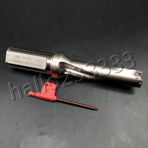1PC Φ20-4D-C25 20mm U drill indexable drill For WCMX040208-FN CNC U drill insert