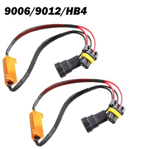 Pair H4 H7 H11 9005 9006 LED HID Light Canbus Load Resistor Canceller Decoder UK