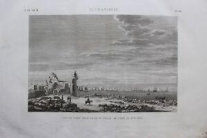 100% Vrai Description Egypte, Port D'alexandrie, Vue Du Port-neuf (em Vol Ii Pl.86)