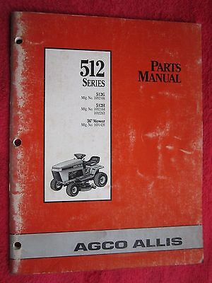 Agco Allis 512 Series Model 512g 512h 36 Cut Lawn Tractor Deck Parts Manual Ebay