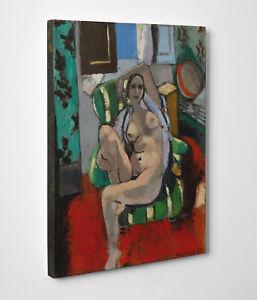 Quadro-Matisse-Odalisca-con-Tamburello-Stampa-su-Tela-Vernice-Pennellate