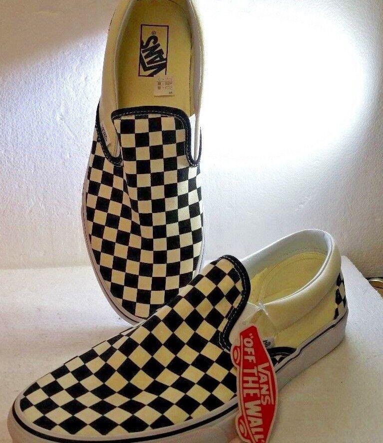 Vans Slip-On, Classic, Negro y blancoo de tablero de ajedrez, tamaño 11.5 (para Hombre),  nuevo