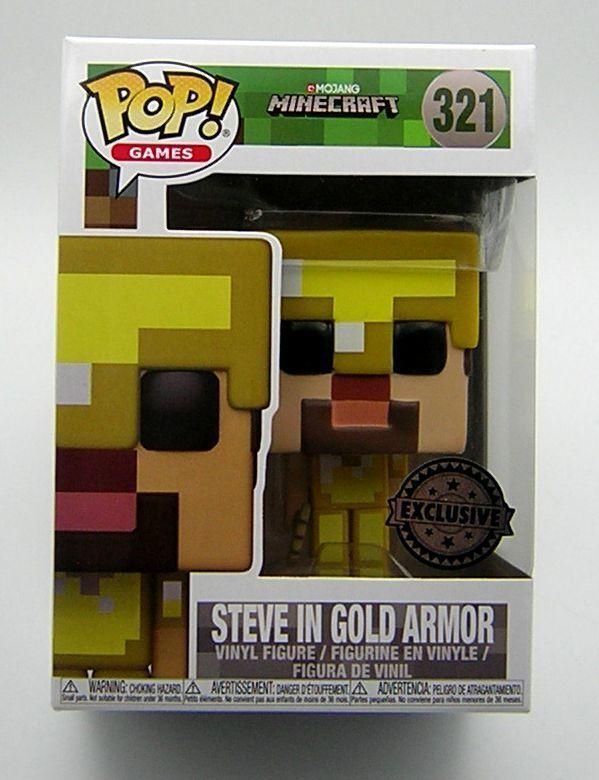 Pop Vinyl Vinyl Vinyl 321 Minecraft Steve in gold Armor ( Exclusive ) 6e7be8