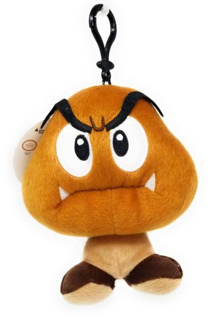 Nintendo Super Mario Brown Goomba Plush Stuffed Toy Mushroom Figure