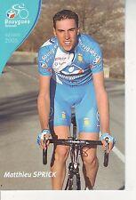 CYCLISME carte cycliste MATTHIEU SPRICK équipe BOUYGUES TELECOM 2006