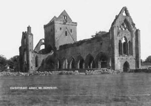 OLD PHOTO Sweetheart Abbey Near Dumfries Scotland Circa 1920