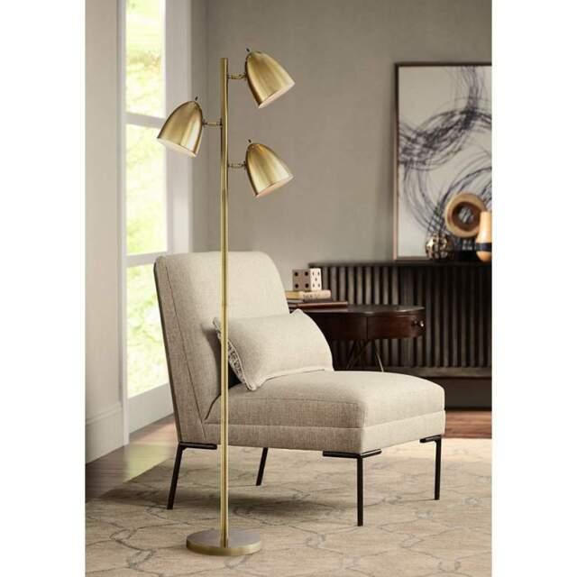 Mid Century Modern Floor Lamp 3 Light