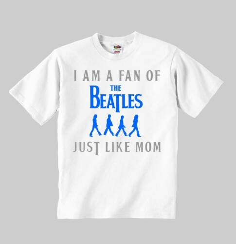 the beatles just like MOM BLUE t-shirt toddler clothing kid shirt for children