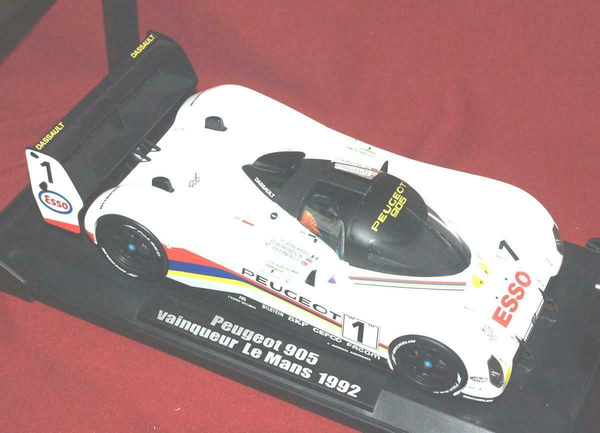 Very Rare #1 Esso Peugeot 905 -1992 Le Mans 24 Hr. Winner 1/18 New Mint by Norev