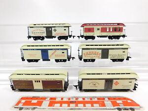 CG130-1-6x-H0-DC-US-USA-Postwagen-Central-Pacific-B-amp-O-UPRR-etc-Maengel