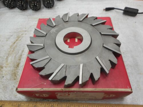 "F/&D 6/"" x 9//16/"" x 1 1//4/"" STAGGERED TOOTH Side Milling Cutter NEW in EX CON"