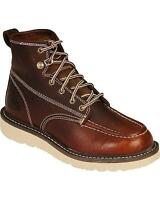 Dickies Trader Wedge Bottom Work Boots Burgundy Iron Worker Shoes - Dw7312by