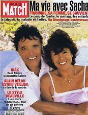 COUVERTURE de MAGAZINE,COVERAGE Match n° 2884 26/08/004 Sacha Distel & Francine