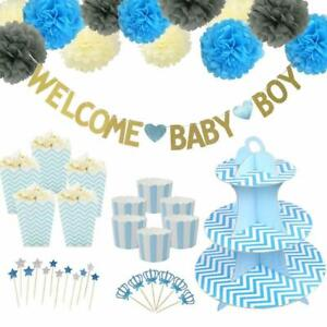 Welcome Baby Boy Birthday Party Paper