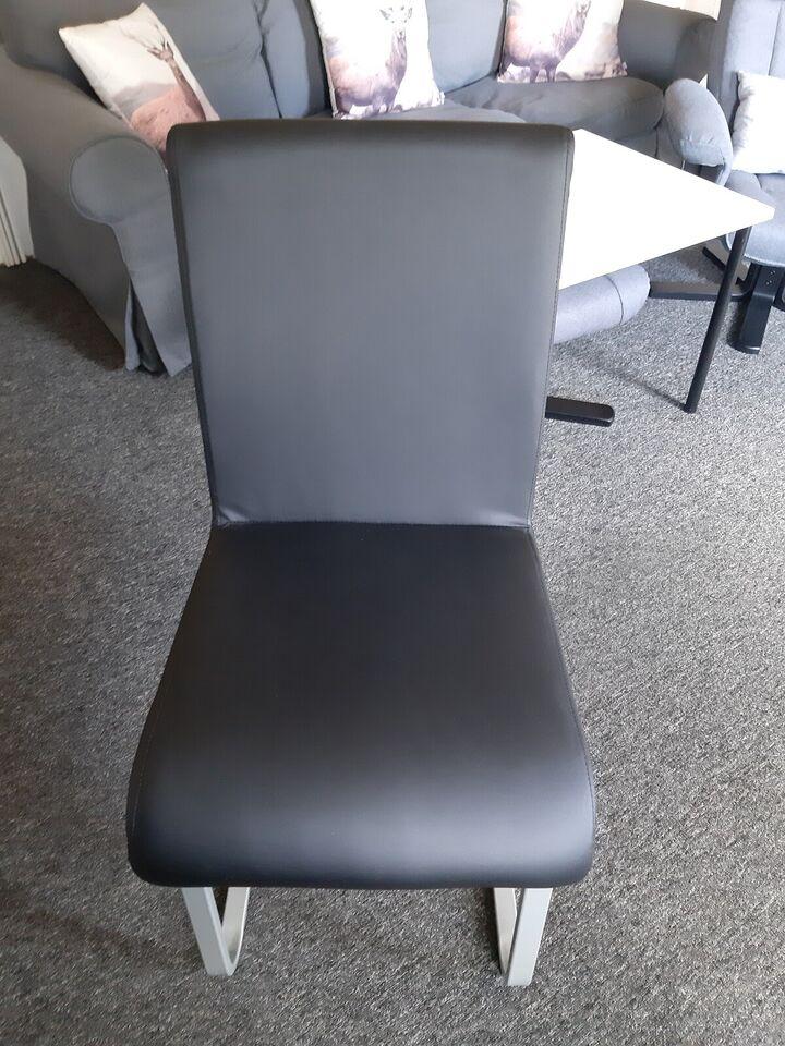 Spisebordsstol, blødt skind, ved ikke