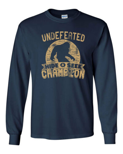 487 Undefeated Hide and Seek Champion Long Sleeve Shirt sasquatch big foot