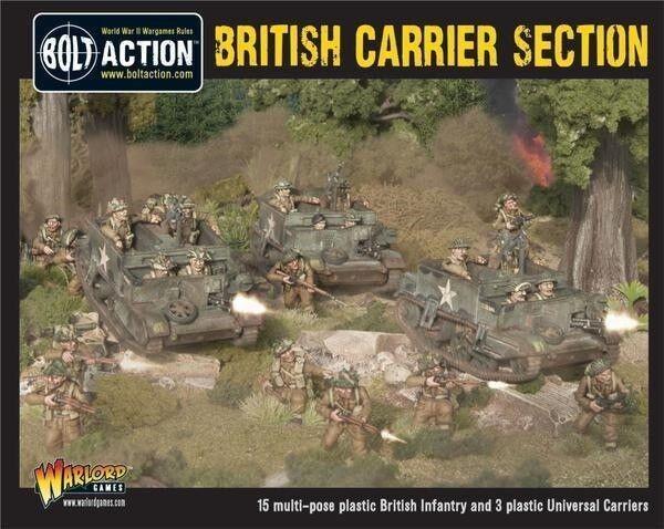 Perno de acción  Set en caja de plástico de sección de portadora británico