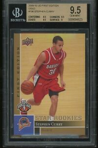 2009-10-upper-deck-first-edition-gold-STEPHEN-CURRY-rookie-BGS-9-5