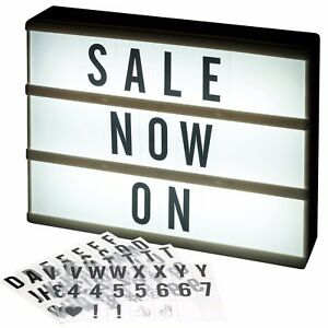 cinema a4 led light up message board word display sign writing