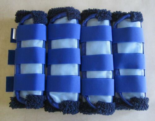 Horse Fly Mesh Boots Set of 4 Pale /& Royal blue Australian Made  Protection