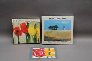 2 x Klaus Fußmann - Botschaften aus dem Garten und Original Farblinolschnitt