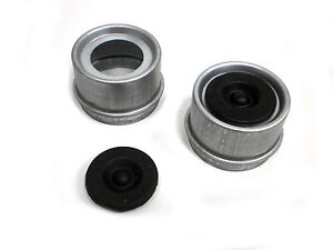 TWO-2000-3500-1-98-Trailer-Axle-Dust-Cap-Cup-Grease-Cover-RV-Camper-EZ-Lube