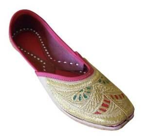 Women-Shoes-Wedding-Leather-Jutties-Casual-Ballerinas-Mojari-UK-3-5-7-5-EU-36-42