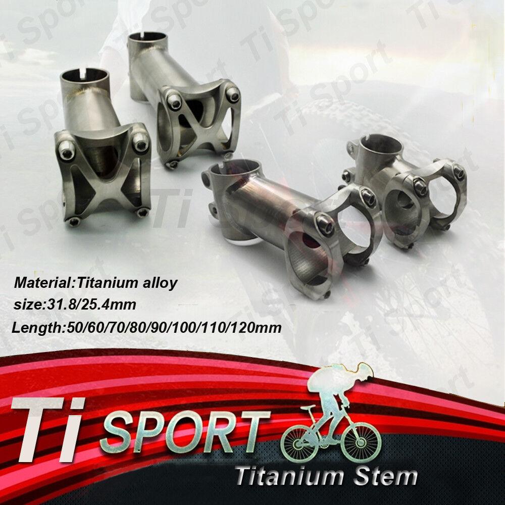 50-120mm Titan Ti 31.8 25.4MM FahrradAheadset Stem für MTB Road Bike