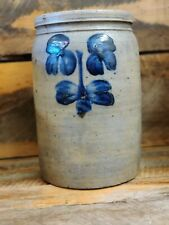 PETER HERMANN ARTISTRY AT HIS FINEST. TWO GALLON STONEWARE WITH DEEP COBALT BLUE