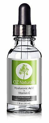 OZ Naturals Hyaluronic Acid Serum For Skin, Potent Anti Aging Wrinkles Serum