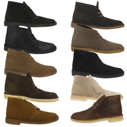 Clarks Desert Boot Scarpe Uomo Originals Boots Scarpe con Lacci Trek Wallabee