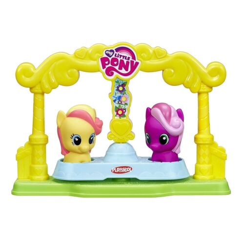 MY LITTLE PONY SWING FRIENDS GO ROUND PLAY GAME PRESENT RIDE SPINNING CAROUSEL