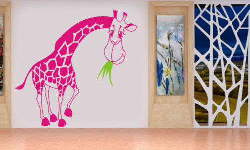ONE LARGE giraffe WITH GRASS Removable Wall Stickers Decal Art Vinyl Decor DIY