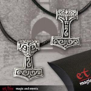 Details zu Thorshammer Anhänger Amulett Mjölnir Asatru Thors Hammer Odin Thor K5102