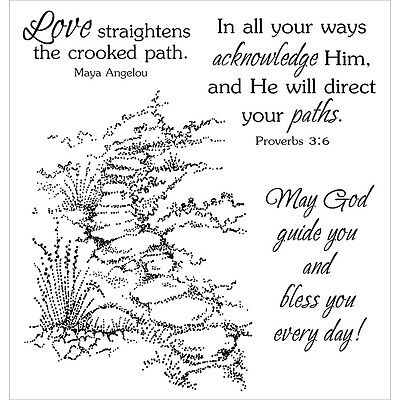"""Inky Antics Clear Stamp Set 4""""X4""""-Guided Path"""