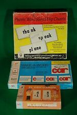 "Vintage Phonic Word Blend Flip Charts by Kenworthy ""Old School Educational Set"""