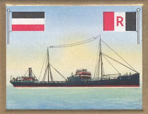 Tanker-tankship-Mohican-German-American-Petroleum-Hamburg-Linie-FLAG-CARD-30s