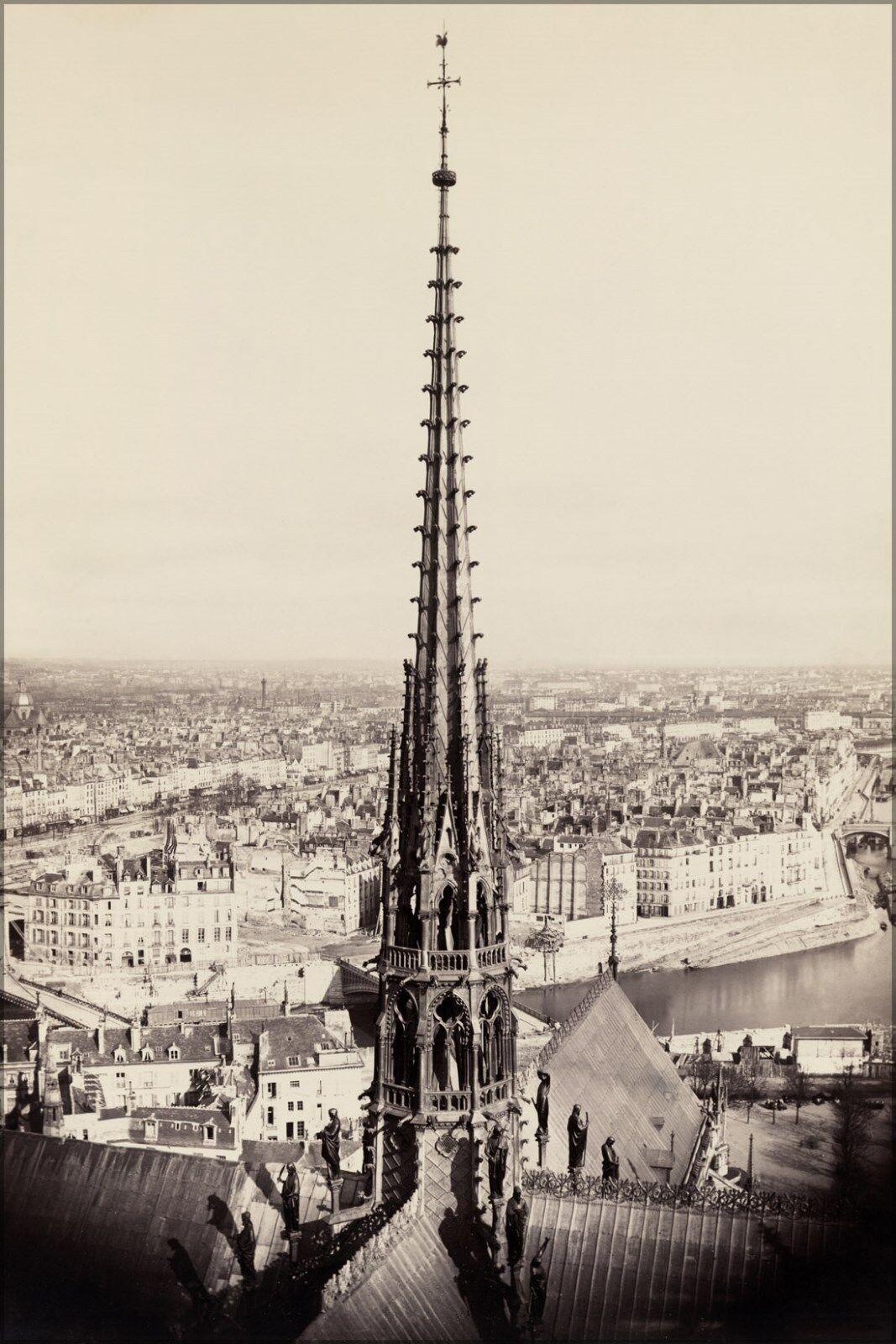 Poster, Many Größes; Notre Dame, Paris, France 1859